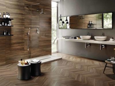 堅磁歐洲磁磚 雪佛龍-原木木紋磚