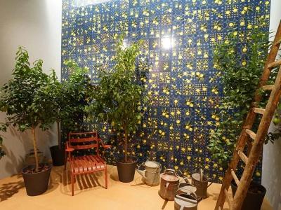 堅磁歐洲磁磚 檸檬露露-地毯花磚